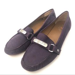 AUTHENTIC COACH PURPLE LEATHER LOAFERS